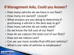 if management asks could you answer