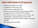 what fmr bulletin b 30 required