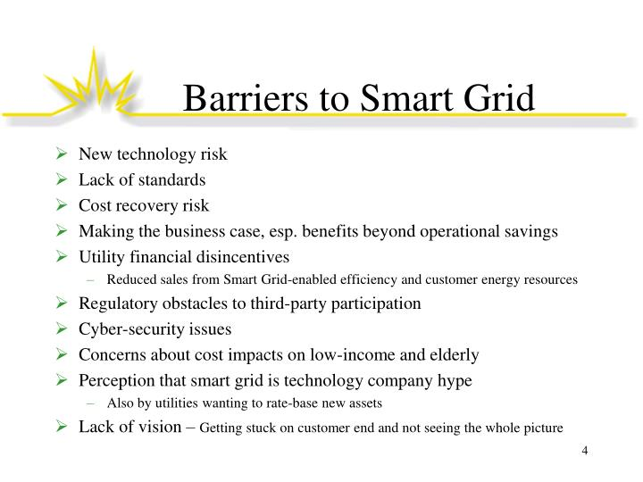 Barriers to Smart Grid