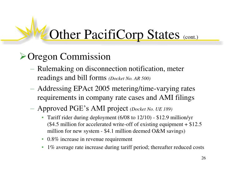 Other PacifiCorp States