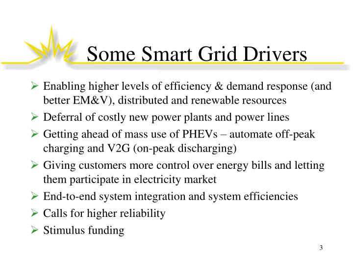 Some smart grid drivers