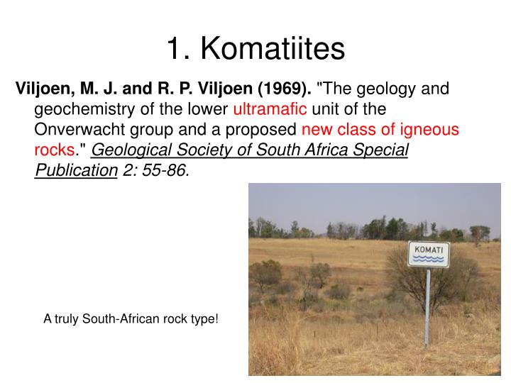 1. Komatiites