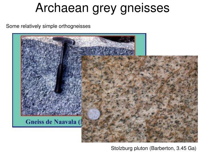 Archaean grey gneisses