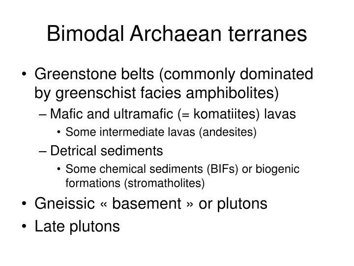 Bimodal Archaean terranes