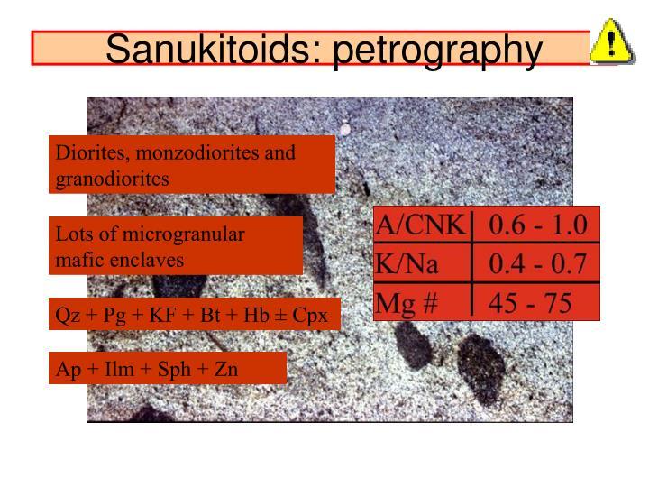Sanukitoids: petrography