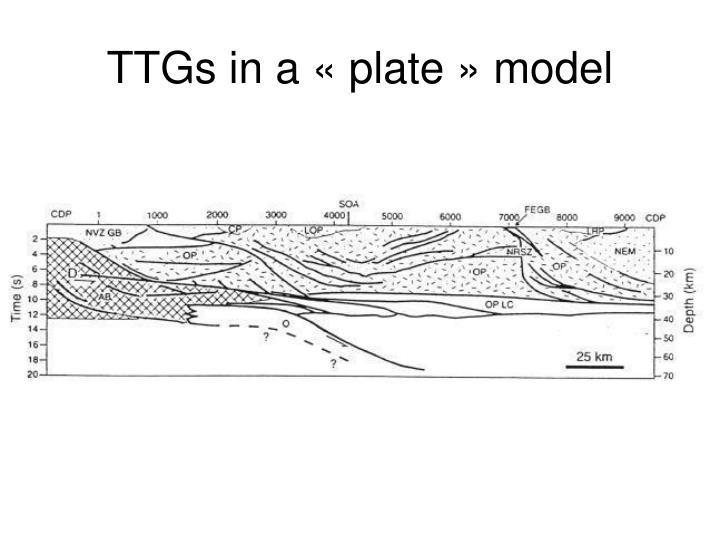 TTGs in a «plate» model