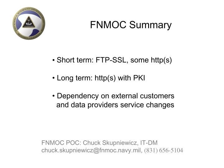 FNMOC Summary