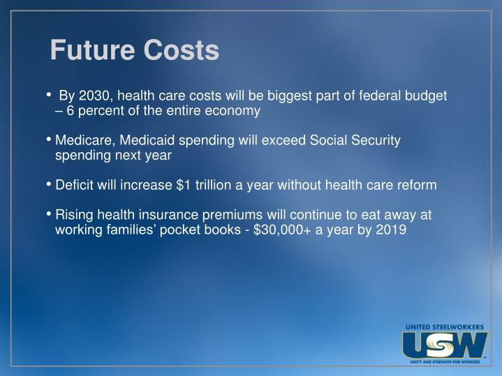 Future Costs