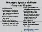 the negro speaks of rivers langston hughes