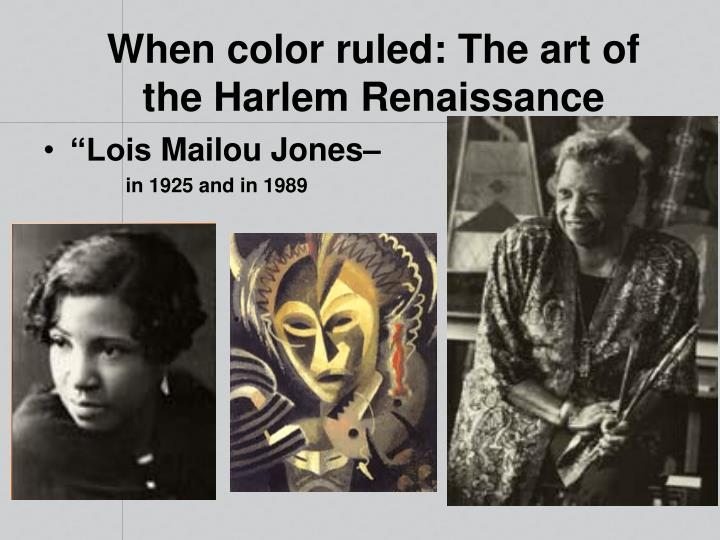 When color ruled: The art of  the Harlem Renaissance