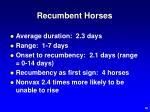 recumbent horses