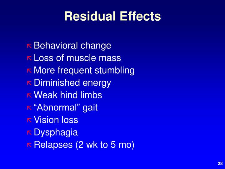 Residual Effects