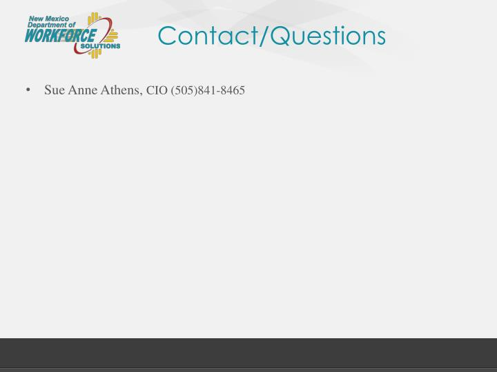 Contact/Questions