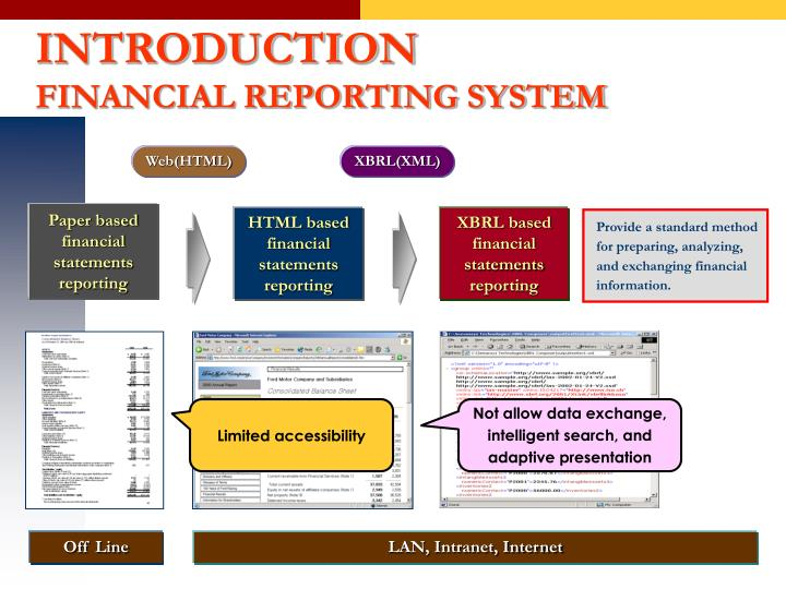 Paper based financial statements reporting