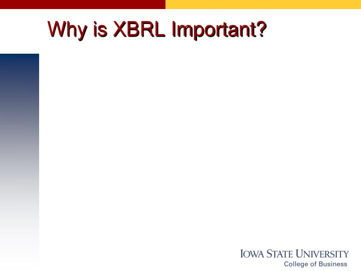 Why is XBRL Important?