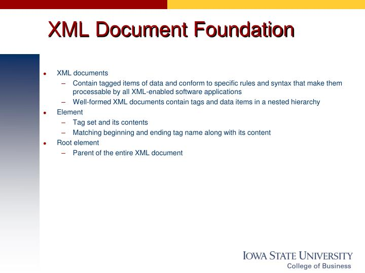 XML Document Foundation
