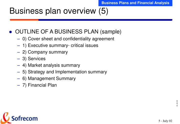 Business plan overview (5)