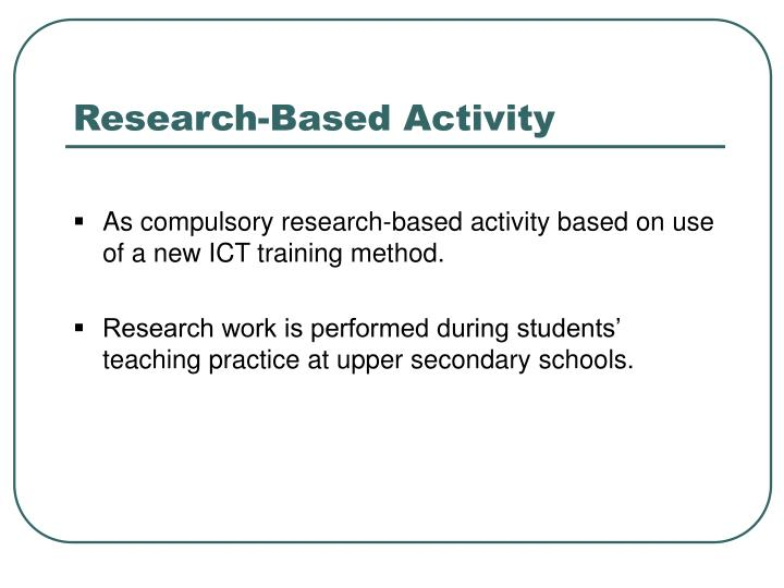 Research-Based Activity