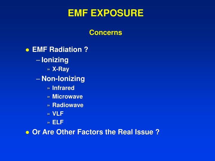 EMF EXPOSURE