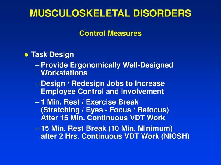 MUSCULOSKELETAL DISORDERS