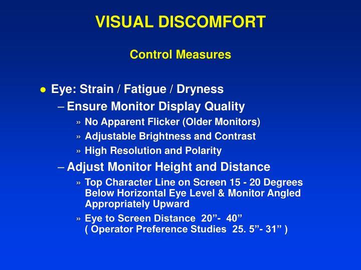 VISUAL DISCOMFORT