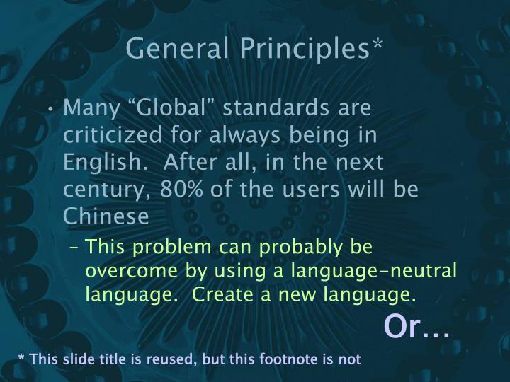 General Principles*