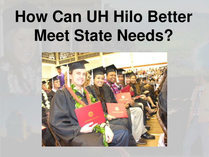 How Can UH Hilo Better Meet State Needs?