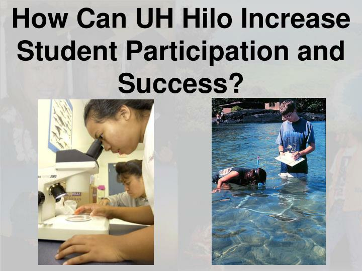 How Can UH Hilo Increase Student Participation and Success?
