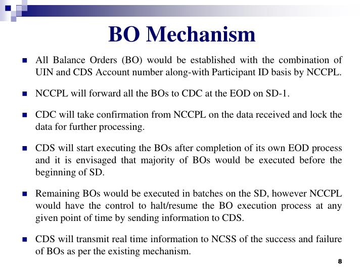 BO Mechanism