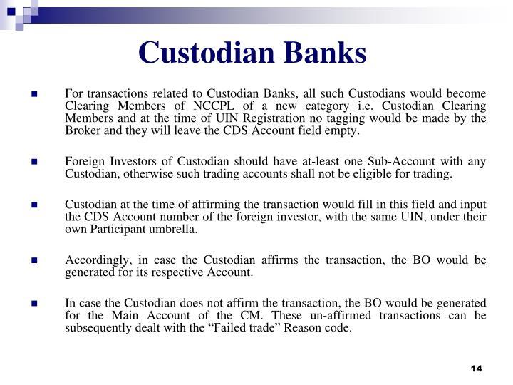 Custodian Banks