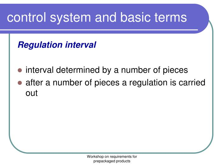 control system and basic terms