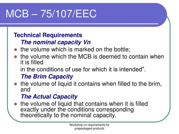 MCB – 75/107/EEC
