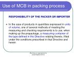 use of mcb in packing process2