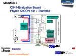 c541 evaluation board phytec kitcon 541 starterkit
