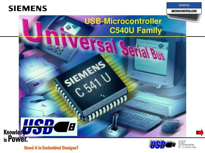 usb microcontroller c540u family