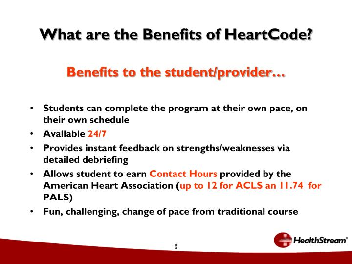 What are the Benefits of HeartCode?