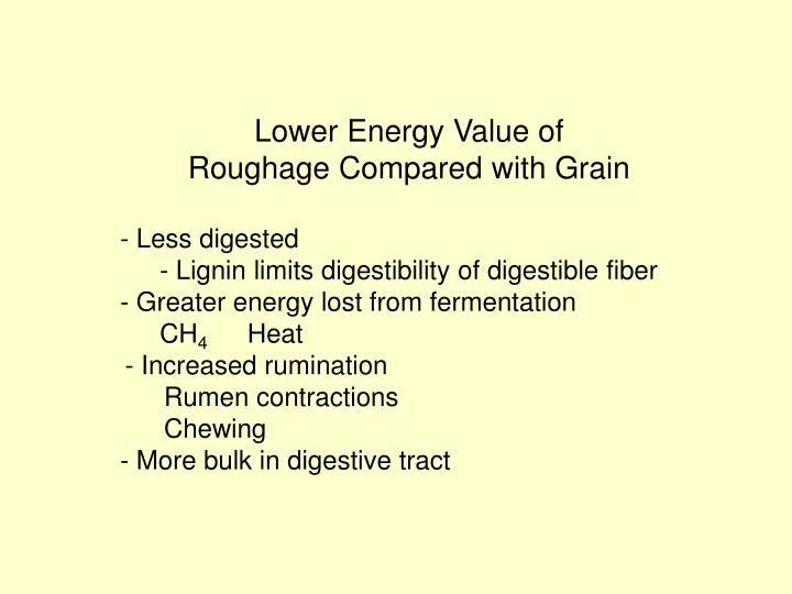 Lower Energy Value of