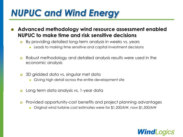 NUPUC and Wind Energy