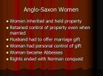 anglo saxon women
