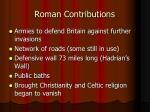 roman contributions
