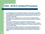 vda nys c unified procedure
