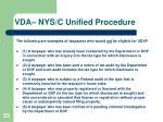 vda nys c unified procedure2