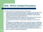 vda nys c unified procedure4