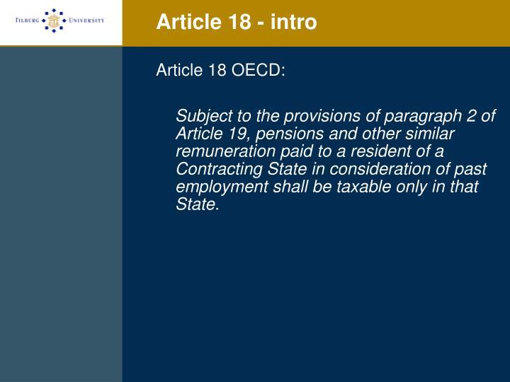 Article 18 - intro