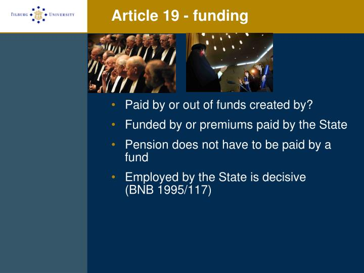 Article 19 - funding
