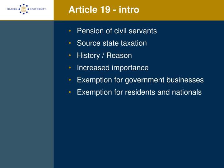 Article 19 - intro