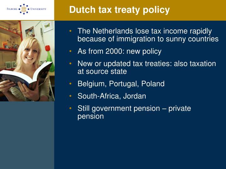Dutch tax treaty policy