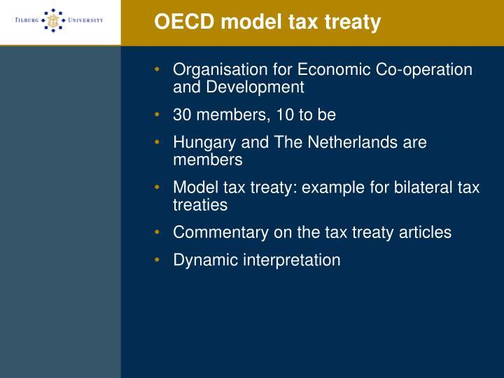 OECD model tax treaty