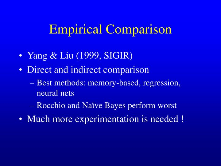 Empirical Comparison
