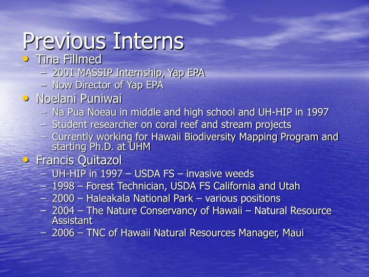 Previous Interns